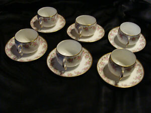 Vintage Limoge set of 6 Tea Cups and Saucers Peterborough Peterborough Area image 1