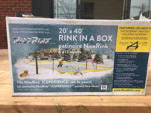 "Backyard ice rink ""rink in a box"""