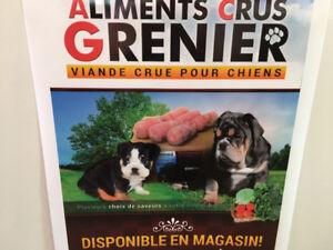 Distributeur viande crue chien et chat