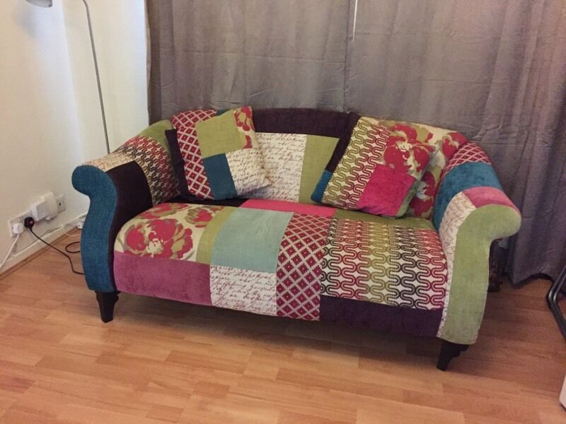 dfs shout patchwork sofa in ruislip london gumtree. Black Bedroom Furniture Sets. Home Design Ideas