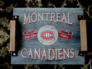 Limited Edition Montreal Canadiens beer Serving Tray