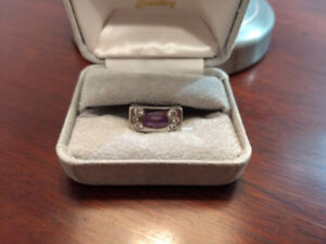 White Gold 14kt & Sapphire Ladies Ring - Val $ 7500