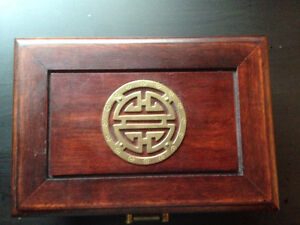 Reduced -Korean Brass & Wood lined box