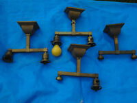 Antique Brass Household Light Fixtures x 4 For Reno Project?