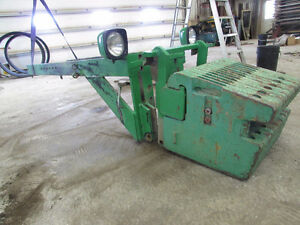 John deere quick attached frame for weights and front tank