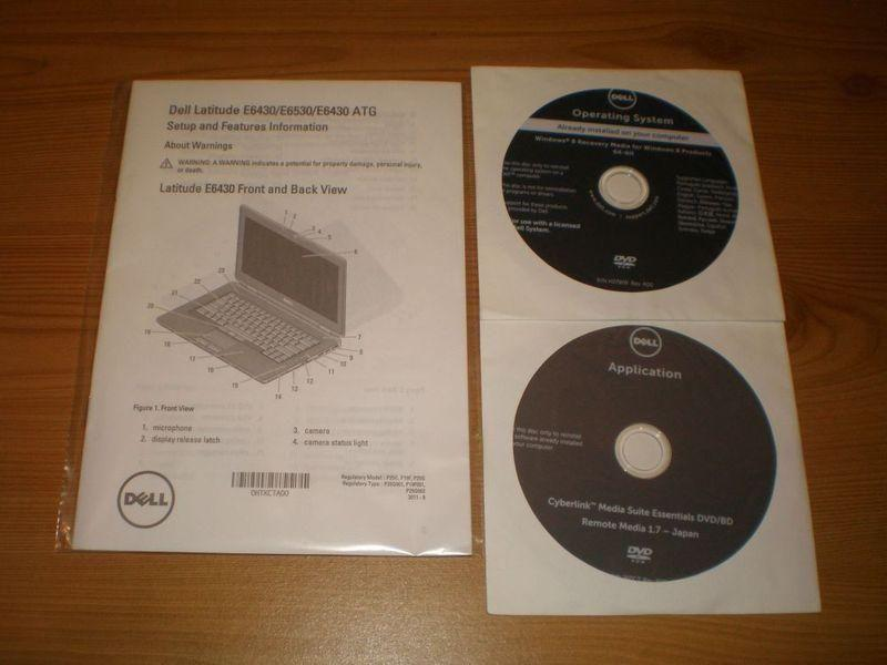 Dell Latitude E6430 E6530 E6430 Manual + CD`s