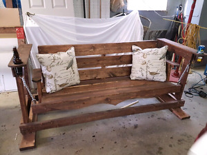Newly Designed Garden Swing Bench  with Beverage Holders