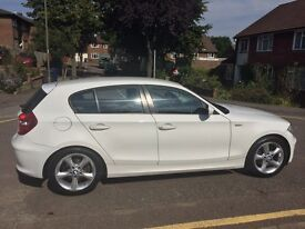 BMW White 1 series, low mileage 2009 car!