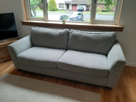 DFS 3 seater sofa and cuddle sofa grey