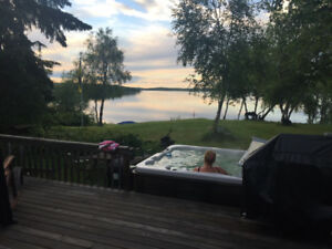 Water Front Cabin rental @ Loon Lake Sask. Inc. boat dock & lift