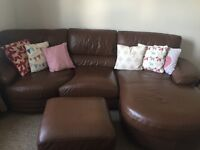 Dfs sofa suite recliner chair and pouffee
