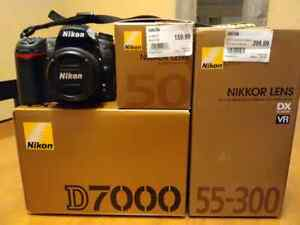 Nikon D7000 with 50mm and 55-300 mm lens