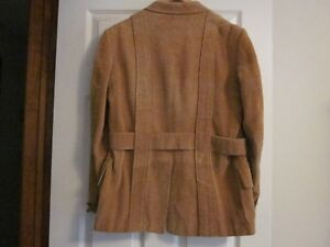 Men's Vintage Corduroy Belted Jacket, Light Brown, Size  Medium Oakville / Halton Region Toronto (GTA) image 2