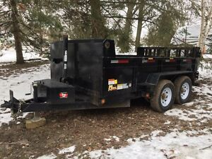2014 7ton miska dump trailer with landscape package
