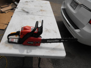 "Homelite 18"" chain saw.Model 4218C.Starts and runs great."