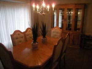 11 Piece Oak Dining Room Set