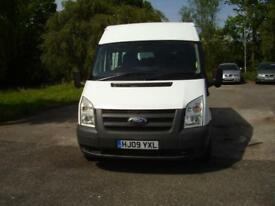 09 FORD TRANSIT MINIBUS only 31,000 miles. T300M FWD