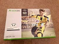 XBOX ONE S 500GB CONSOLE WITH FIFA 17 - BRAND NEW SEALED
