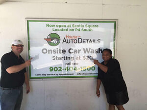 House of Auto Details On site car wash at Scotia Square