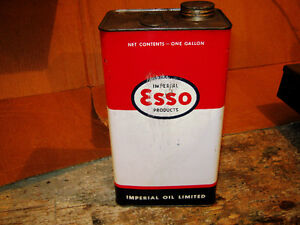 Esso Marvelube Oil Tins