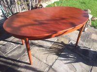 Jentique vintage retro style extending dining table