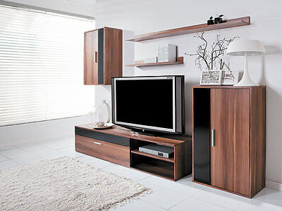 Living room furniture set TV unit cabinet floor stand cupboard wall two shelves