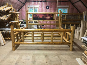 Post Christmas Sale! Reduced! Rustic Cedar Log King Size Bed