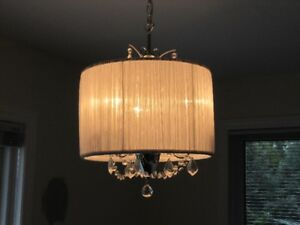 Crystal chandelier - from smoke free home
