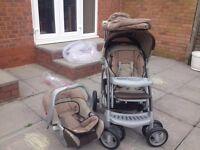 Mothercare pram , car seat, baby carrier