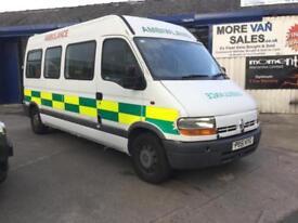 2001 ex ambulance Renault MASTER LM35 2.5 DCI minibus camper conversion??