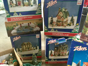 Whole collection of Dickens lighted ceramic village