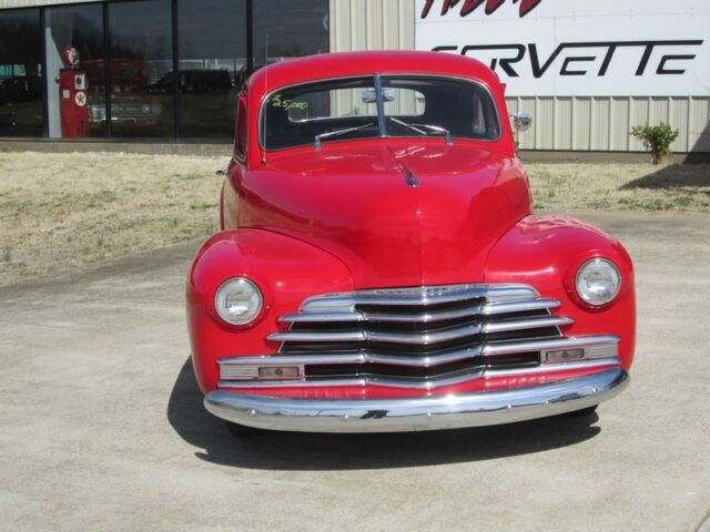 1947 RED CHEVY COUPE