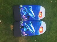 2 children's body boards