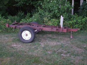 old woods trailer