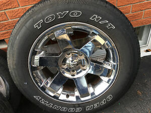 60R20 tires on stock ram 1500 rims