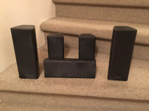 Onkyo Surround Speakers SKF-350 Plus passive subwoofer