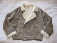 WARM SHEEPSKIN STYLE JACKET, LARGE– LOVELY CONDITION