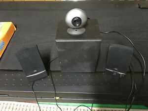 Computer speakers and webcam