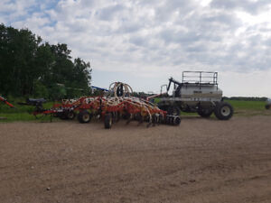 34 foot double shoot boutgault air seeder with 4250 tank