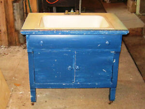 Bathroom Sink in antique commode