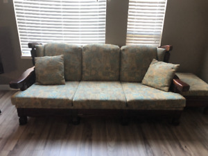 European Solid Wood Frame Couches for Sale