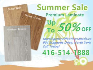 Luxury 12 mm Laminate Summer Sale! Now From Only $1.39/sq.ft !