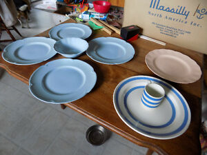 Antique plates, bowl & Children's Tea Cup
