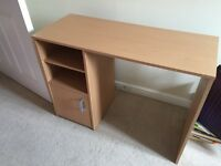 Small desk and office chair