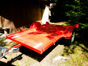 Red flat bed trailer for sale