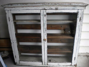 ANTIQUE VINTAGE COUNTRY CUPBOARD PRIMITIVE RUSTIC SHABBY CHIC
