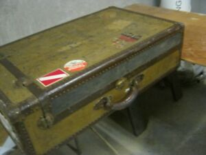 Antique travel chest, suitcase.