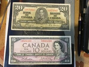 Some Old Canadian Paper Money