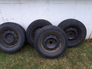 Set of 4 steel rims for sale