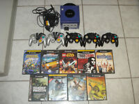 Gamecube w/5 Controllers, Memory Card and 9 Games!!!